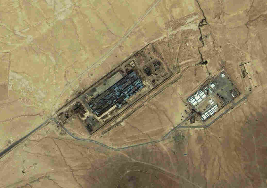 An IKONOS satellite image of a facility near Kabul, Afghanistan, on July 17, 2003, shows what is reportedly the largest CIA covert prison in Afghanistan, code-named the Salt Pit.