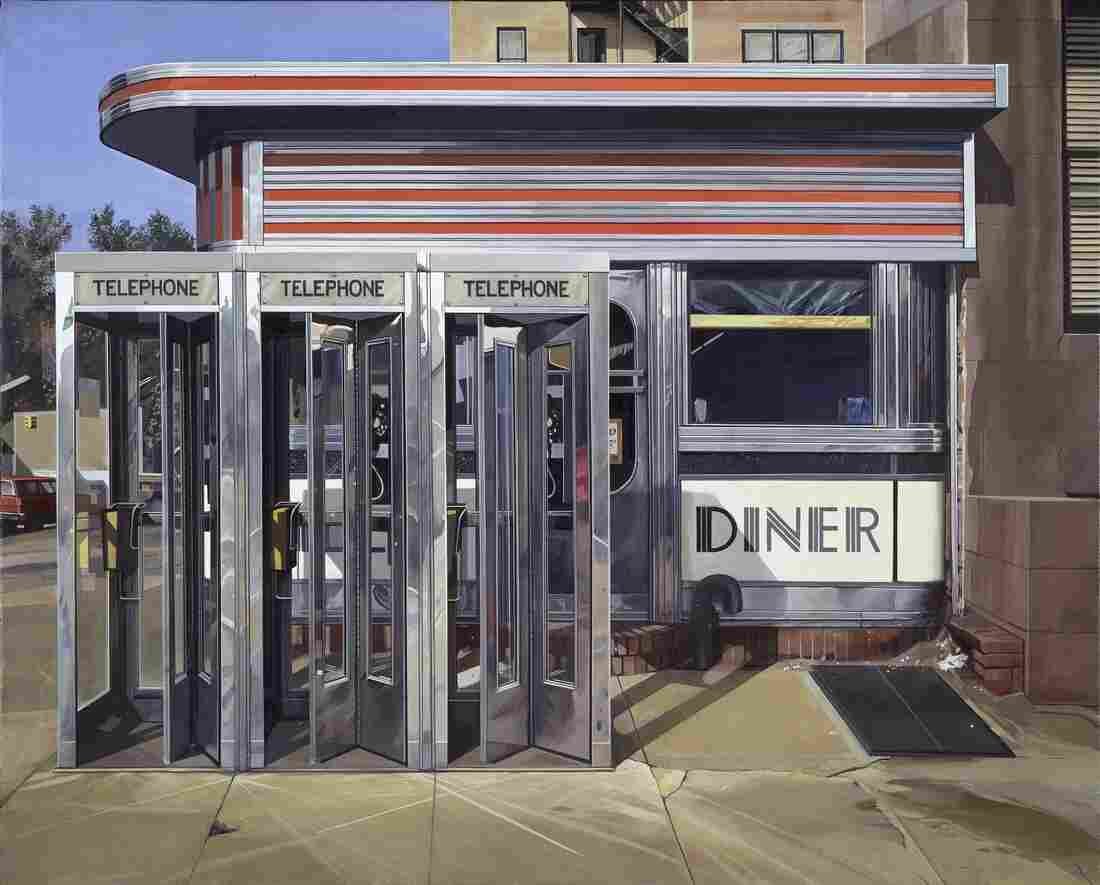 Richard Estes, Diner, 1971, oil on canvas. (Hirshhorn Museum and Sculpture Garden, Smithsonian Institution, museum purchase, 1977.) Click here for a closer look.