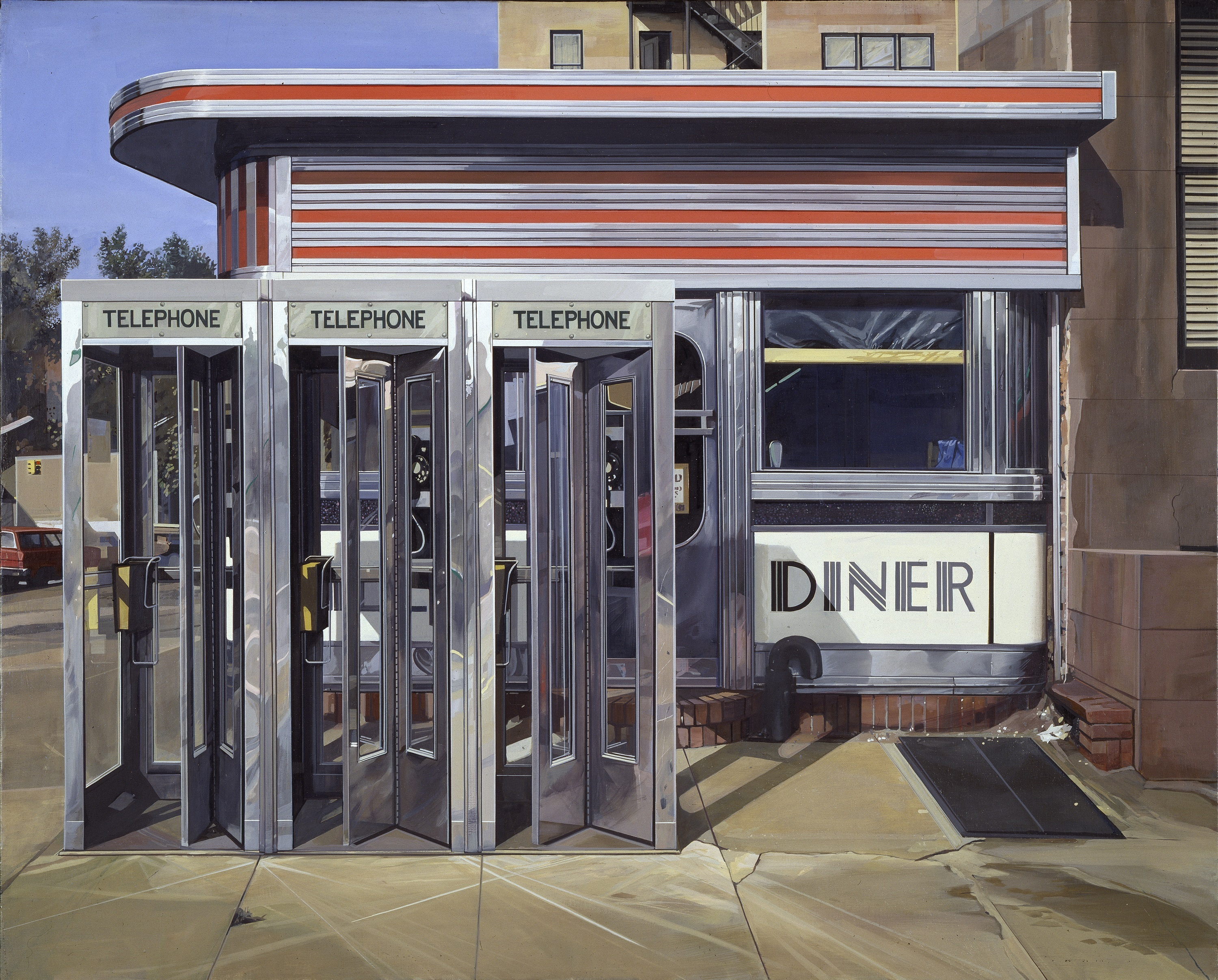 Painting or photograph with richard estes it 39 s hard to for Diner artwork
