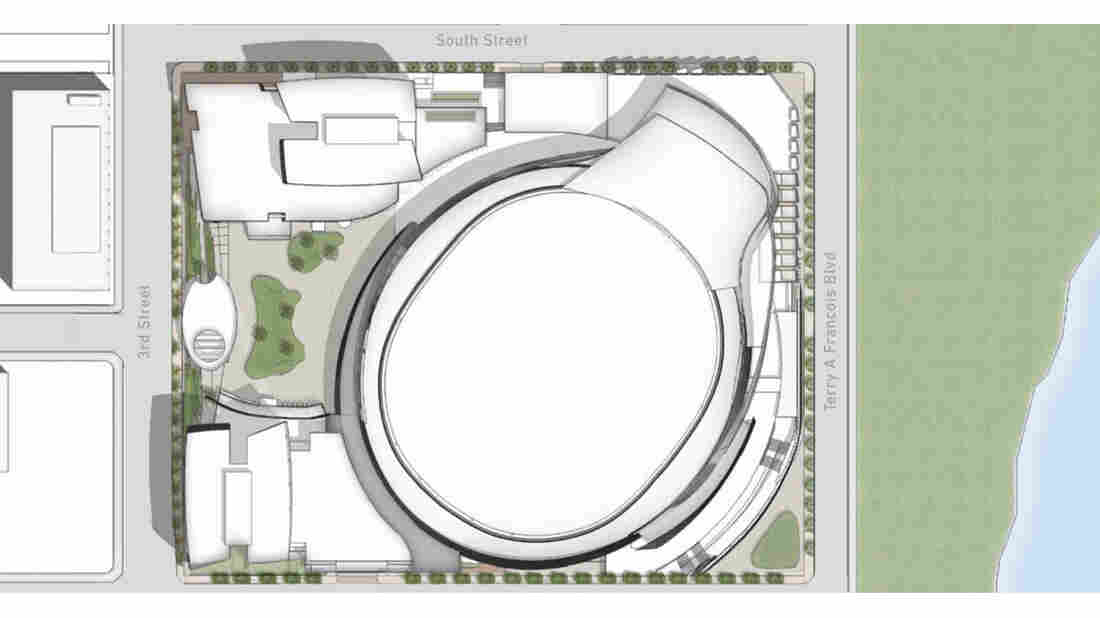A rendering of the planned Golden State Warriors arena drew ridicule from people who said it resembled a toilet.
