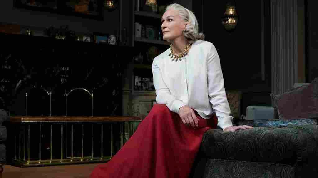 Glenn Close stars as Agnes in Edward Albee's play A Delicate Balance.