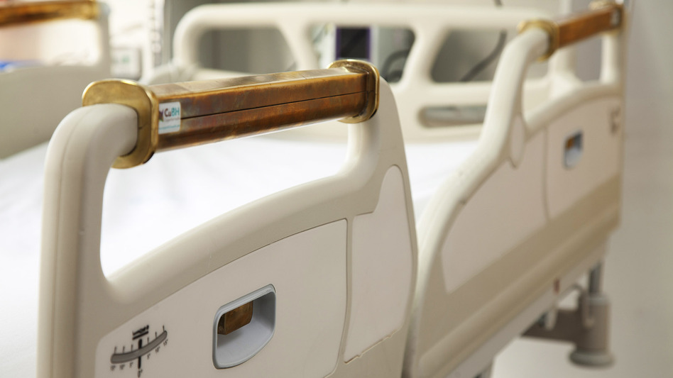 A copper bedrail can kill germs on contact.