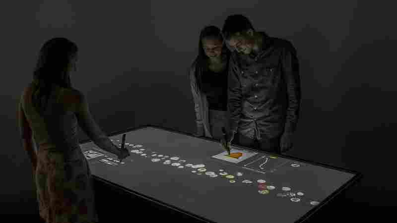 Interactive touch screens at the newly redesigned Cooper Hewitt museum let visitors sort through the catalog and create their own designs.