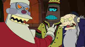 Santabot, Kwanzaabot and the Chanukah Zombie are the members of Futurama's Holiday Trinity.