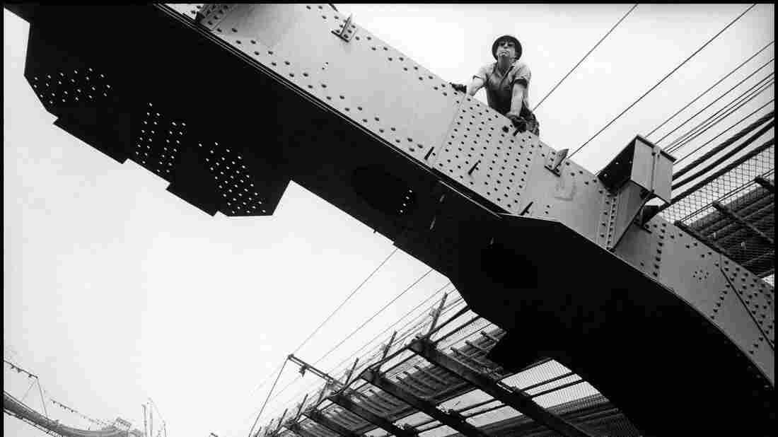 An ironworker on the Verrazano-Narrows Bridge in the early 1960s.
