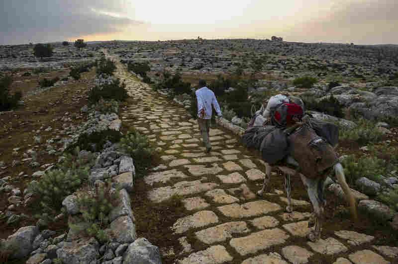 Walking east along the Roman road. Near Tarsus, Turkey.