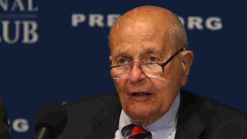 Rep. John Dingell, seen here in June, was admitted to a hospital Friday as a precautionary measure. The Democrat is retiring as the longest-serving member of Congress in U.S. history.