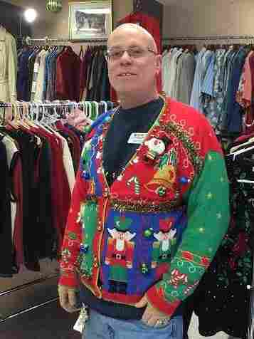 Consignment shop owner Michael Oaks stockpiled more than a thousand ugly Christmas sweaters for the holiday rush — and he's already started begging for more.