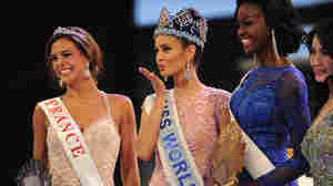Miss Philippines, Megan Young, sends a kiss to the audience after winning the Miss World title in last year's competition. She's helped raise money for typhoon victims in her homeland.