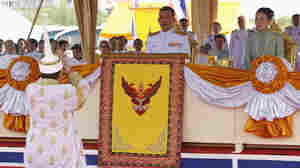Thailand's Crown Prince Maha Vajiralongkorn (seated, left) and Royal Consort Princess Srirasmi, seen during a royal ceremony last year,