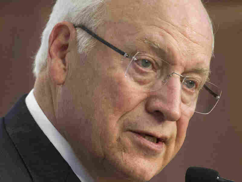 Former Vice President Dick Cheney speaks at the American Enterprise Institute (AEI) in Washington, in September. Cheney has been highly critical of the bipartisan Senate report