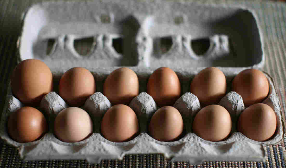 Free-range eggs from Pennypack Farm in Pennsylvania.