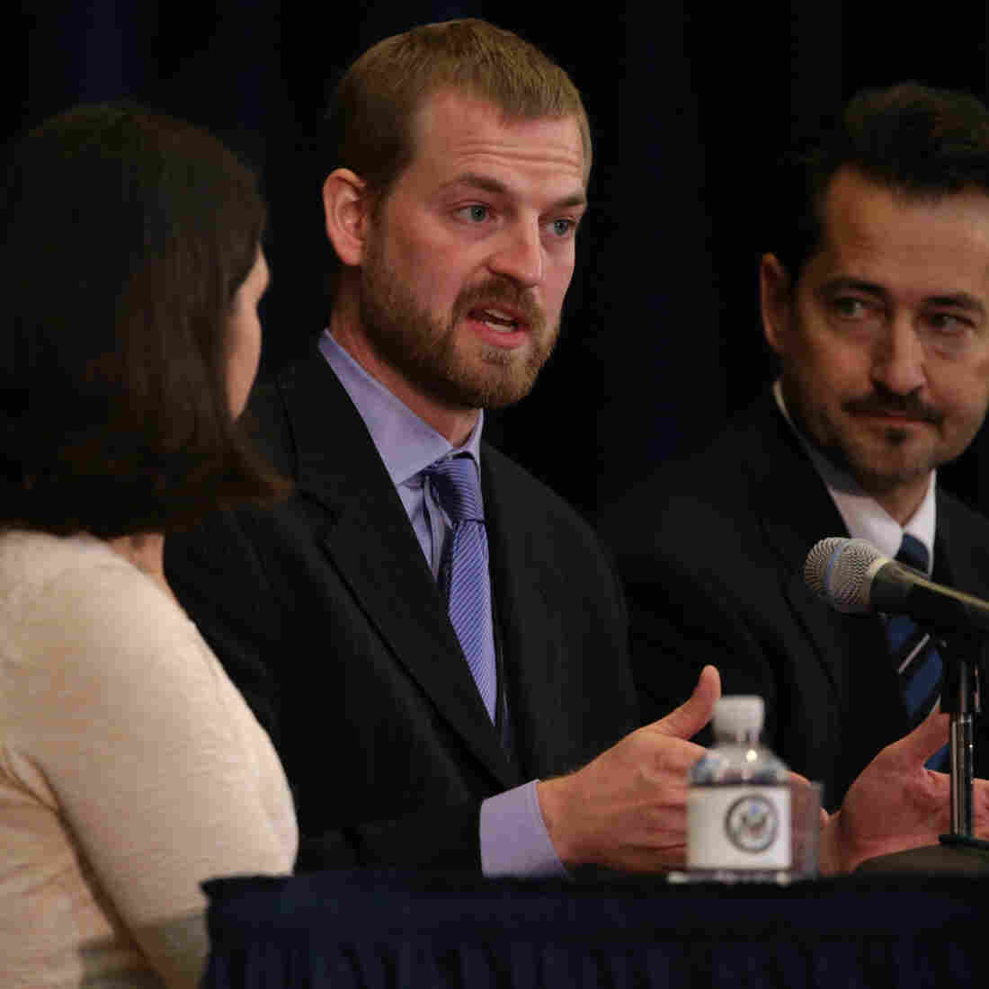 Dr. Kent Brantly speaks about the world's response to Ebola during the Overseas Security Advisory Council's Annual Briefing in Washington, D.C. last month.
