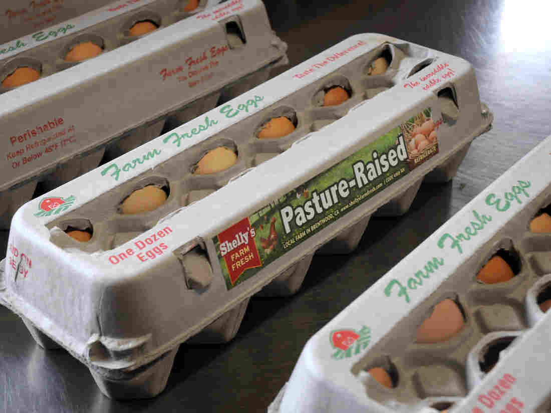 Shelly's Farm Fresh of Brentwood, Calif., sells pasture-raised eggs at farmers markets.