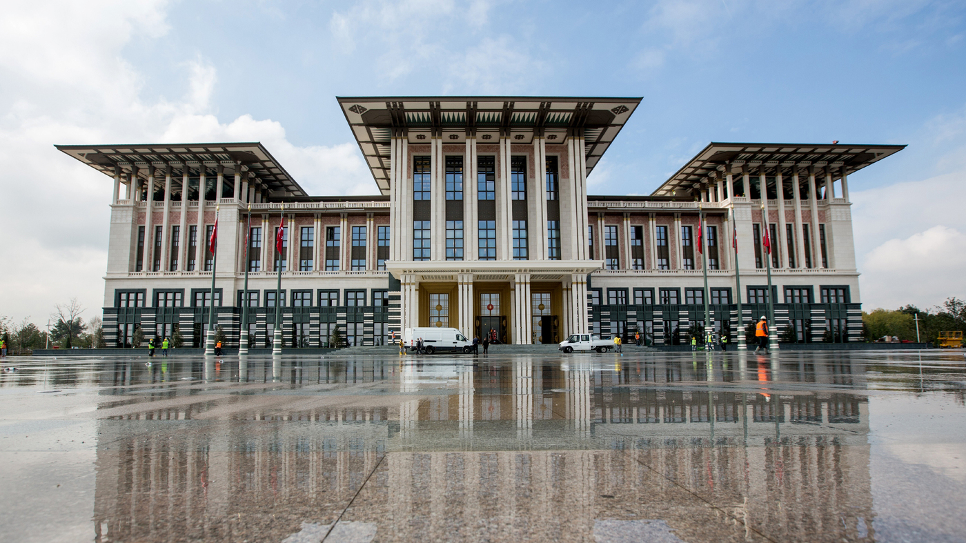 Turkey S President And His 1 100 Room White Palace Parallels Npr