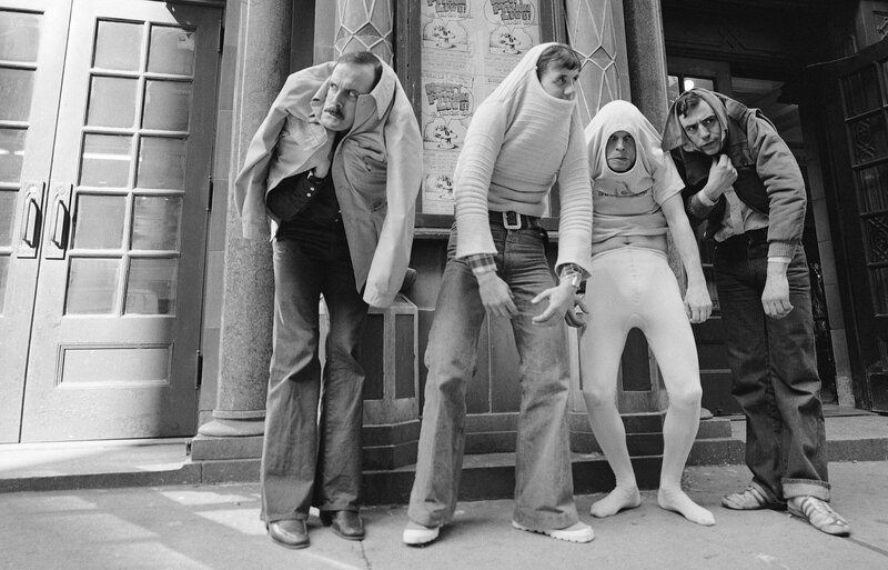 John Cleese, pictured above in 1976 with Monty Python's Flying Circus (from left, Cleese, Michael Palin, Terry Gilliam and Terry Jones), says he worked hard to learn physical comedy by imitation - 'It was not something I was naturally gifted at,' he says.