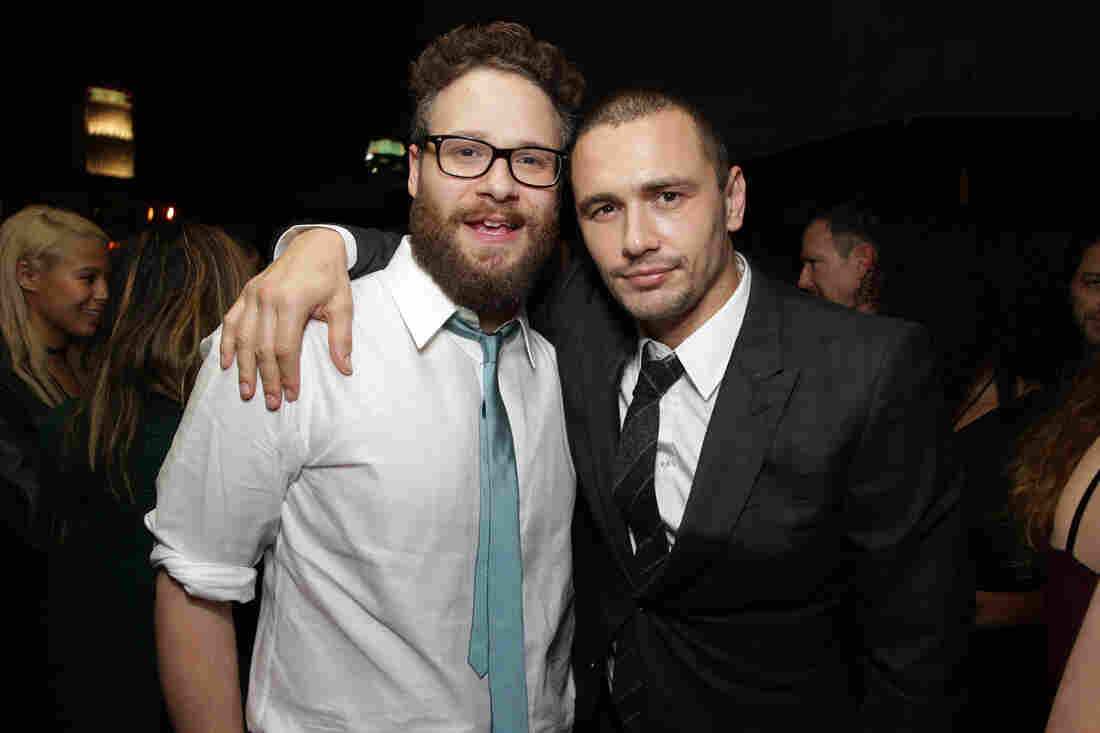 Seth Rogen and James Franco at the world premiere of The Interview in Los Angeles last week.