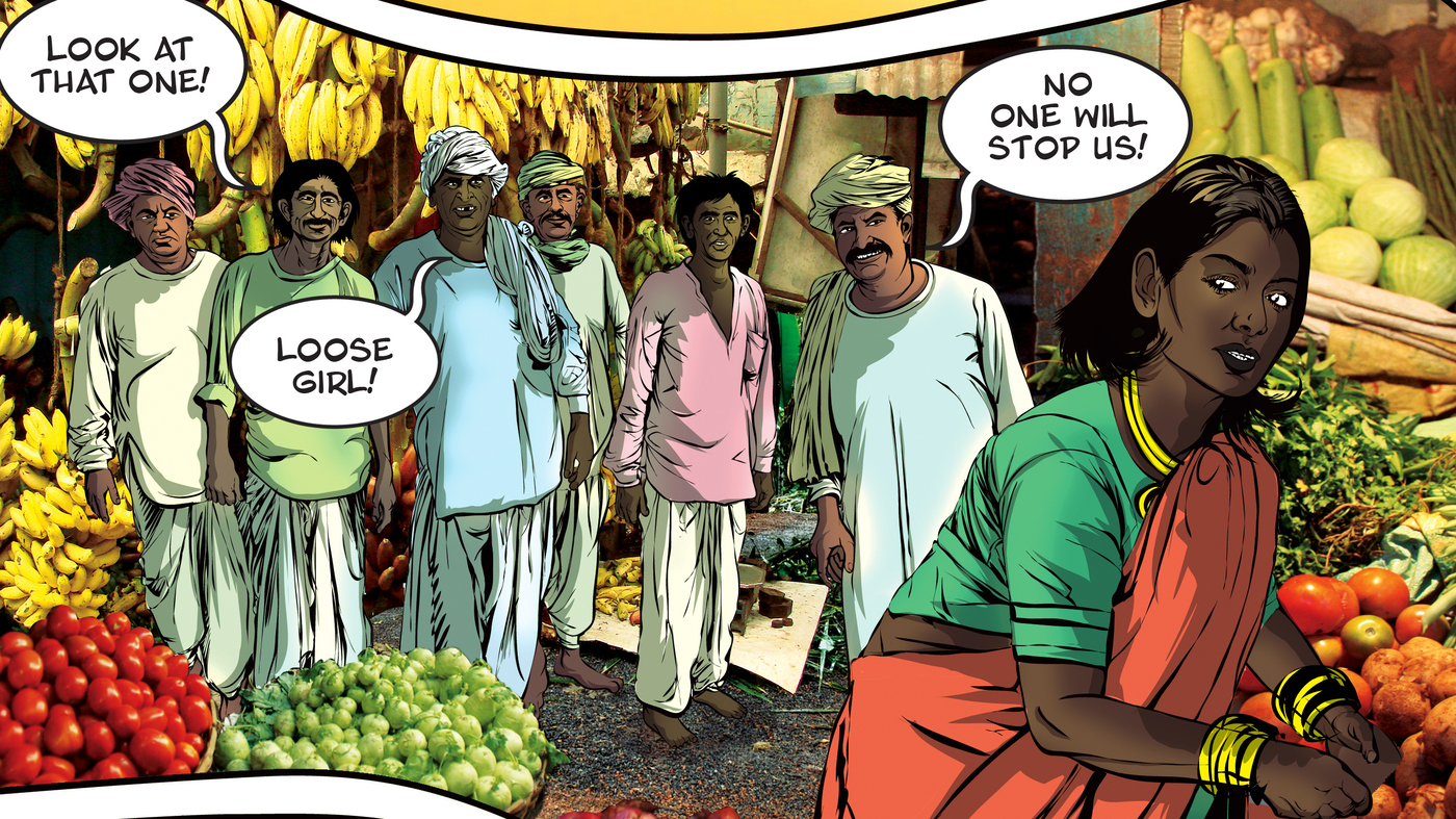 Indias New Comic Book Hero Fights Rape, Rides On The Back