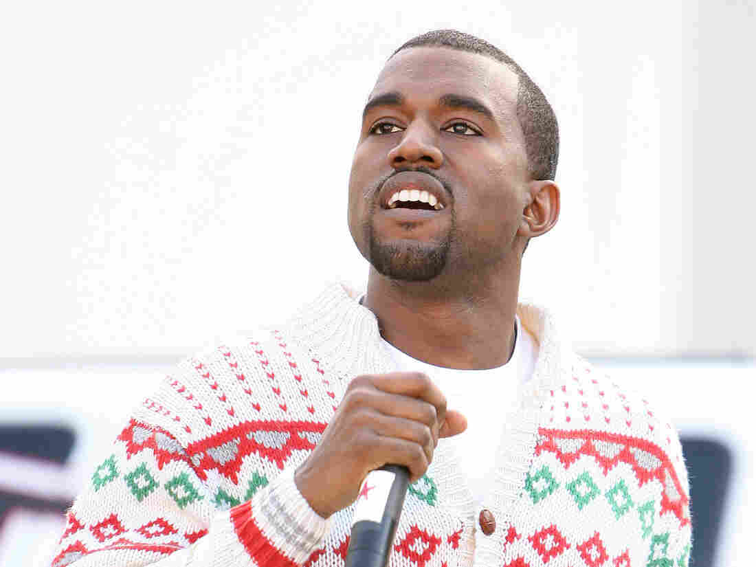 Kanye gets it. Here he is in December of 2005 wearing a Christmas sweater at Santa Monica High School.