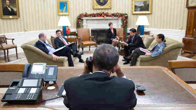 President Obama speaks with President Raul Castro of Cuba from the Oval Office on Tuesday.