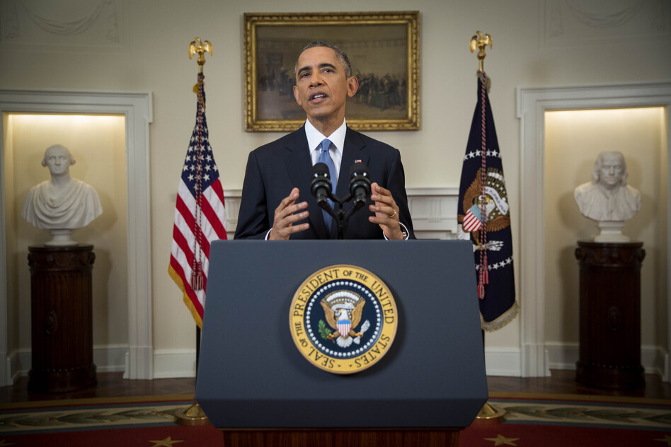 President Obama announced Wednesday that the U.S. will work with Cuba to normalize diplomatic ties. (Doug Mills /UPI /Landov)