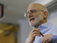 Alan Gross addresses a news conference in Washington on Wednesday hours after his release from Cuba.