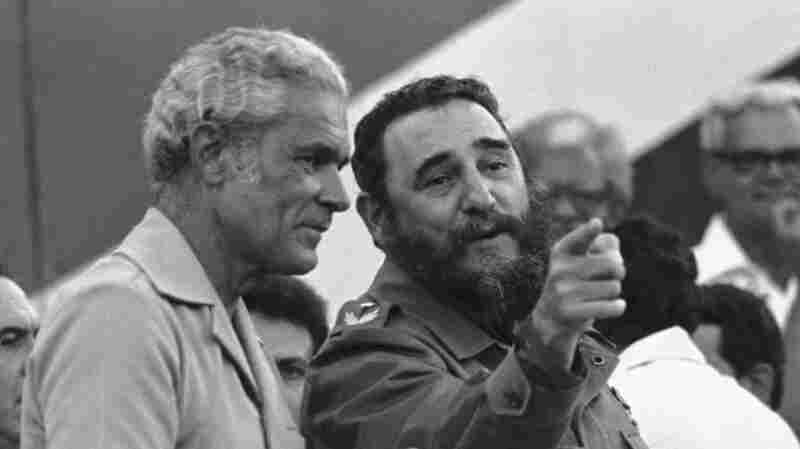 Cuba's President Fidel Castro visiting Jamaica's Michael Manley at a hugh rally in Montego Bay, Sept. 17, 1977.