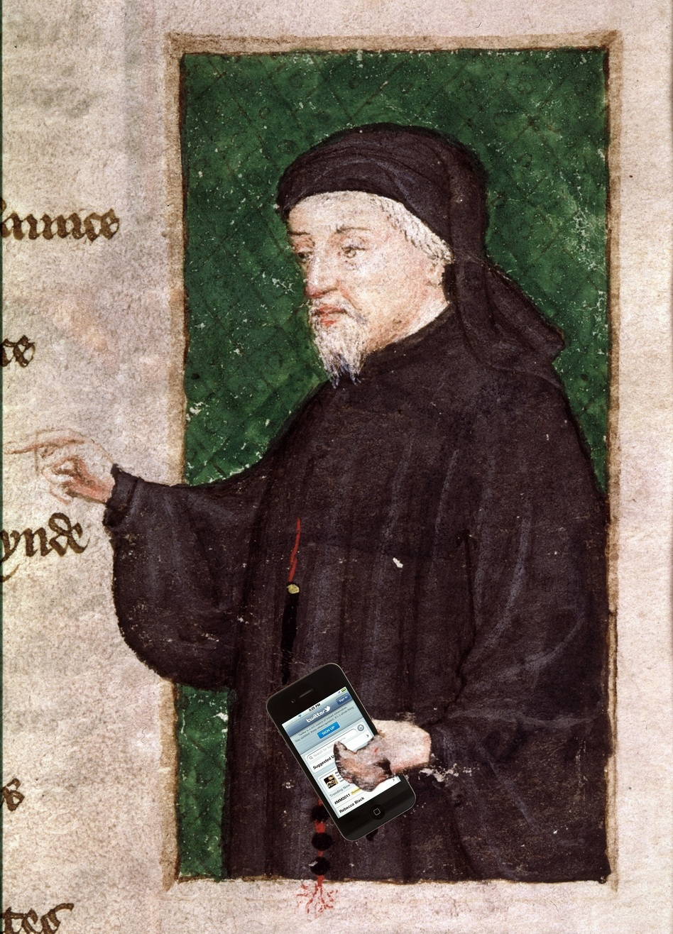 Geoffrey Chaucer died in 1400 — but somehow, he's on Twitter now — and he's here to answer your holiday questions! (The Art Archive/iStockphoto)