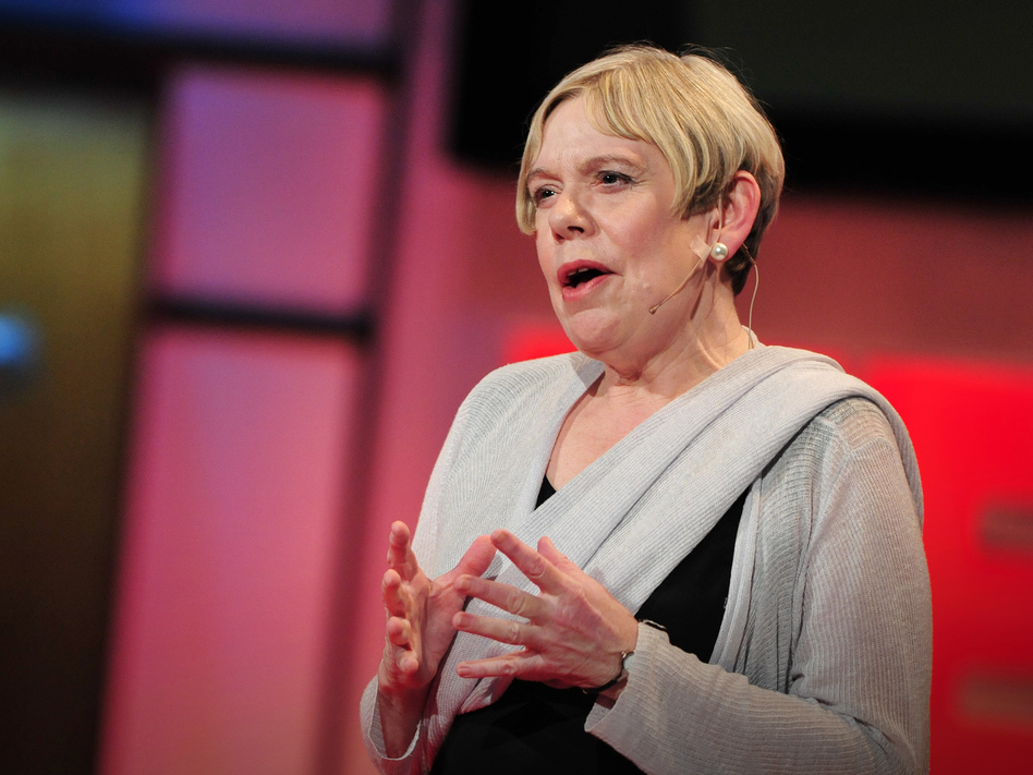 """""""I've become acutely aware of the centrality of compassion in all the major world faiths"""" — Karen Armstrong (James Duncan Davidson/TED)"""