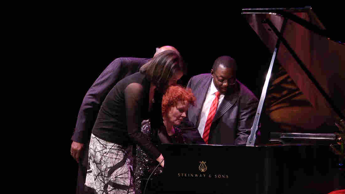Harold Mabern, Kris Davis, Lynne Arriale and Cyrus Chestnut perform at A Jazz Piano Christmas 2014.