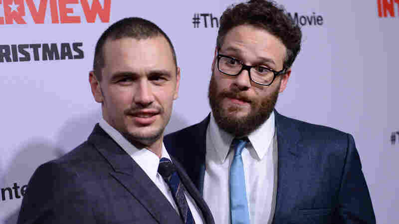 James Franco (left) and Seth Rogen, stars of The Interview, arrive for the film's Los Angeles premiere on Dec. 11. The comedy about a CIA plot to assassinate North Korean leader Kim Jong Un was pulled from theaters after a cyberattack on Sony Pictures, the studio behind the film. The FBI said the attack was traced to the North Korean government.