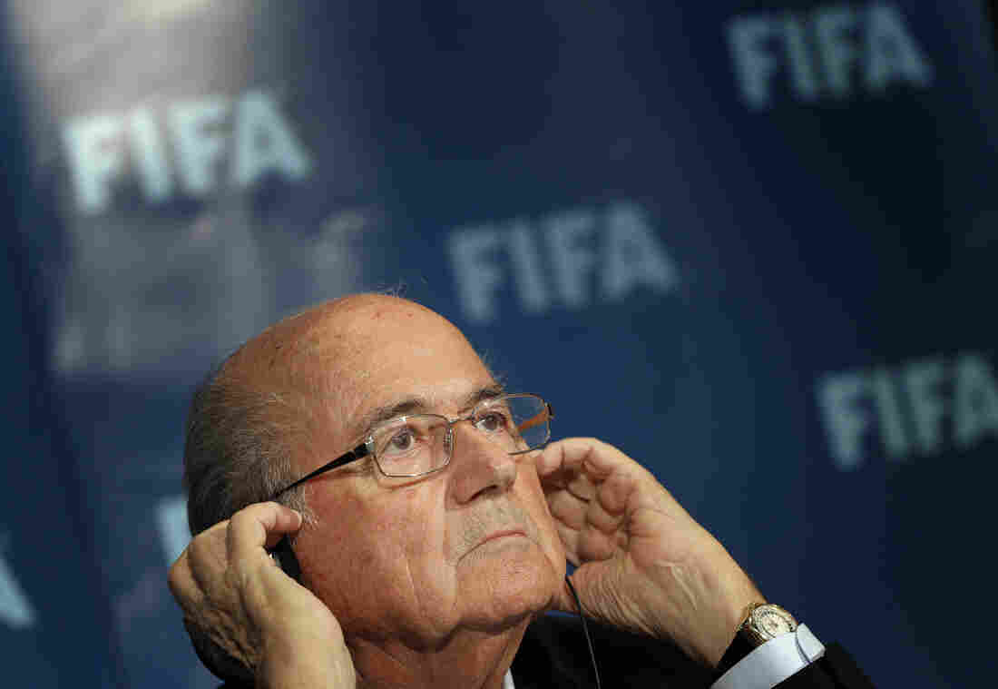 FIFA president Sepp Blatter attends a press conference in Marrakech, Morocco, on Friday.