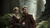 Emily Blunt and James Corden star as a baker and his wife in Rob Marshall's new adaptation of Into the Woods.