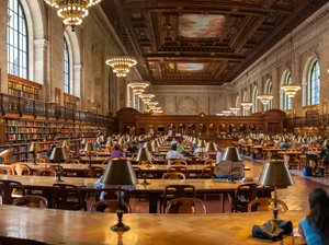 The New York Public Library reading room.