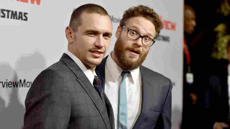 "Actor James Franco (left), seen here with The Interview co-star Seth Rogen, was called ""James Flacco"" by President Obama Friday. Afterward, the jokes poured in."