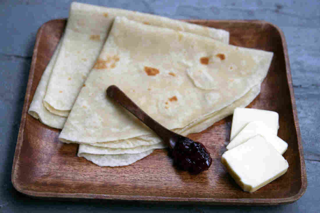 "Megan Walhood loves the unique toasty potato flavor of lefse. ""There's something so comforting about soft, starchy things,"" she says."
