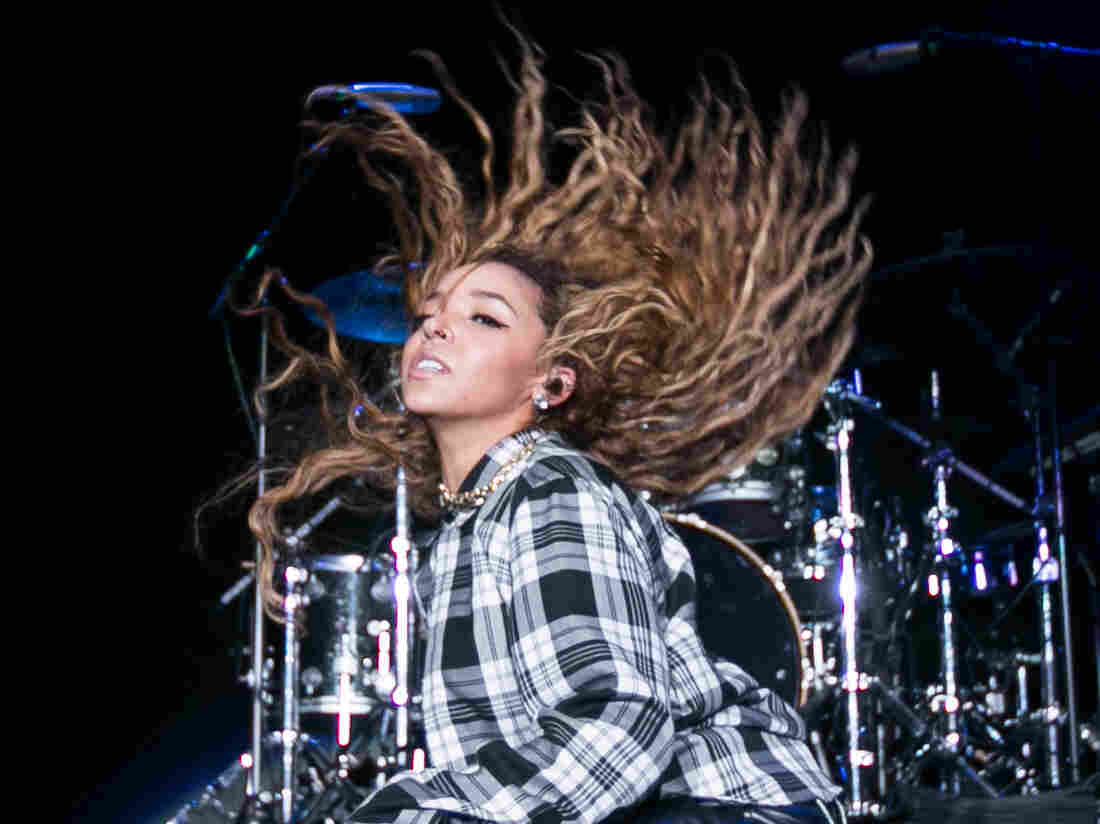 "Tinashe, whose hit ""2 On"" was produced by DJ Mustard, performs on stage in December."