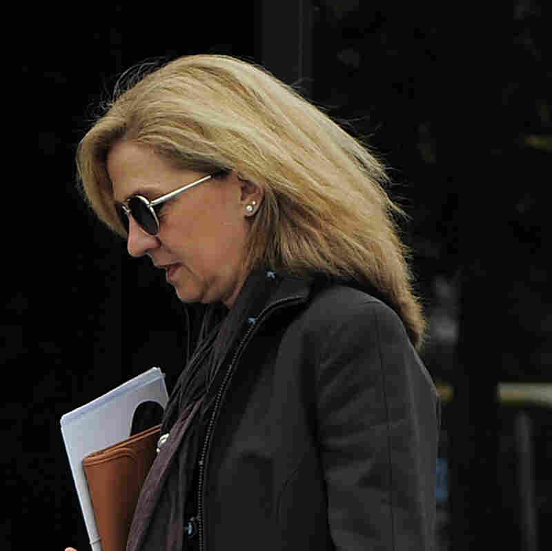 Princess Cristina, seen here on April 5 in Barcelona, Spain, will face trial on tax fraud charges.