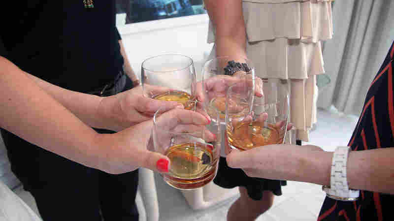Women at a whiskey tasting at the W South Beach Hotel & Residences on May 3, 2012, in Miami Beach, Fla.