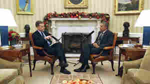 Morning Edition host Steve Inskeep interviews President Obama on Dec. 17 in the Oval Office, where they discussed recent moves on Cuba and immigration, and prospects for cooperation with a GOP-dominated Congress.
