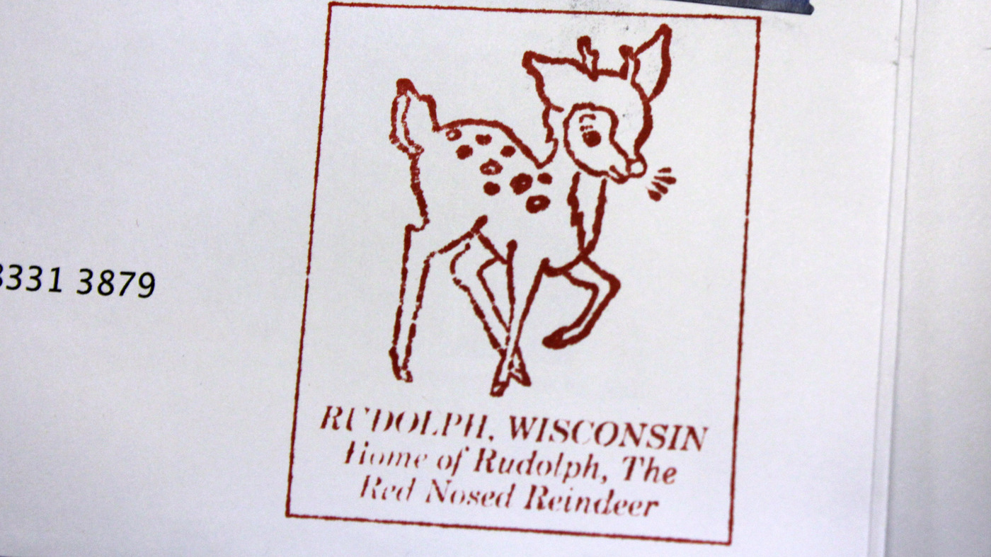Sending Your Holiday Mail By Way Of Rudolph Wis NPR