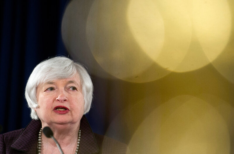 Federal Reserve Chairwoman Janet Yellen makes a statement on jobs and the economic outlook Dec. 17 in Washington, D.C.