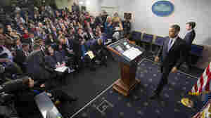 President Obama arrives for a news conference Dec. 19 in the Brady Press Briefing Room of the White House in Washington.