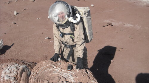 Lt. Heidi Beemer, shown at the Mars Society's Mars Desert Research Station in Utah in 2011, recently returned to the station for a simulation test for the Mars Arctic 365 program. Since childhood, she's dreamed of traveling to Mars.