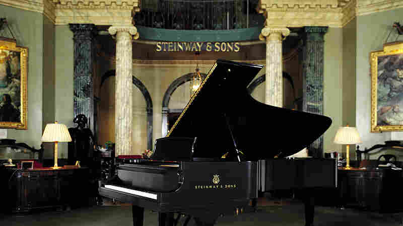 The rotunda at the historic Steinway Hall in Manhattan. The building will be torn down to build luxury condominiums.