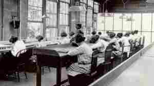 """Employees of the U.S. Radium Corp. paint numbers on the faces of wristwatches using dangerous radioactive paint. Dozens of women, known as """"radium girls,"""" later died of radium poisoning. One of the last radium girls died this year at 107."""