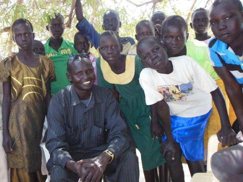 Daniel Majook Gai from South Sudan goes in and out of his war-torn country to help children there go to school. (Courtesy of Project Education South Sudan)