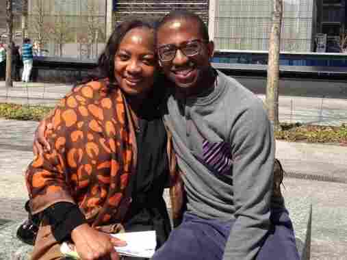"""Dr. Ameyo Adadevoh and her only child, Bankole Cardoso. Even after she was diagnosed with Ebola, her son says, """"Her morale was not low. She is such a fighter."""""""