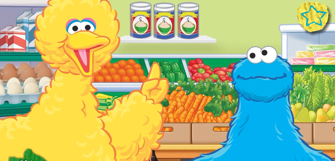 The Sesame Workshop app called Big Bird's Words helps children not only learn new vocabulary, but also understand the interconnectedness between words.