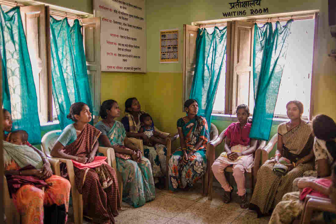 Women wait for an abortion. Run by the nonprofit Family Planning Association of India, the clinic in Khunti performs about 50 procedures a day for little to no cost.